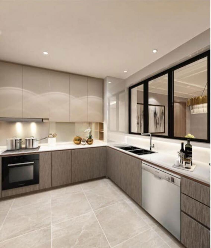Phòng bếp được lắp đặt với các nội thất hàng đầu