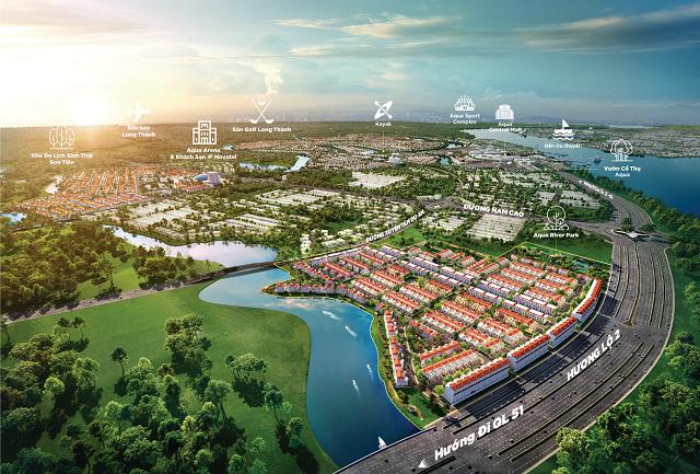 """Vị trí """"cửa ngõ"""" của River Park 1 dự án Aqua City"""