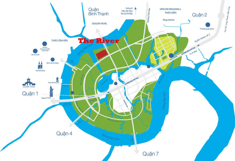 Vị trí dự án The River Thủ Thiêm