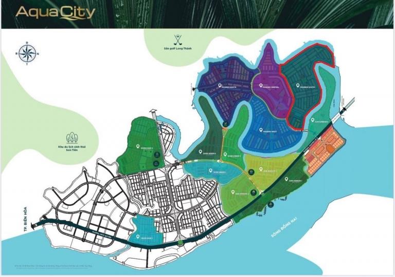 Vị trí của The Phoenix trong dự án Aqua City