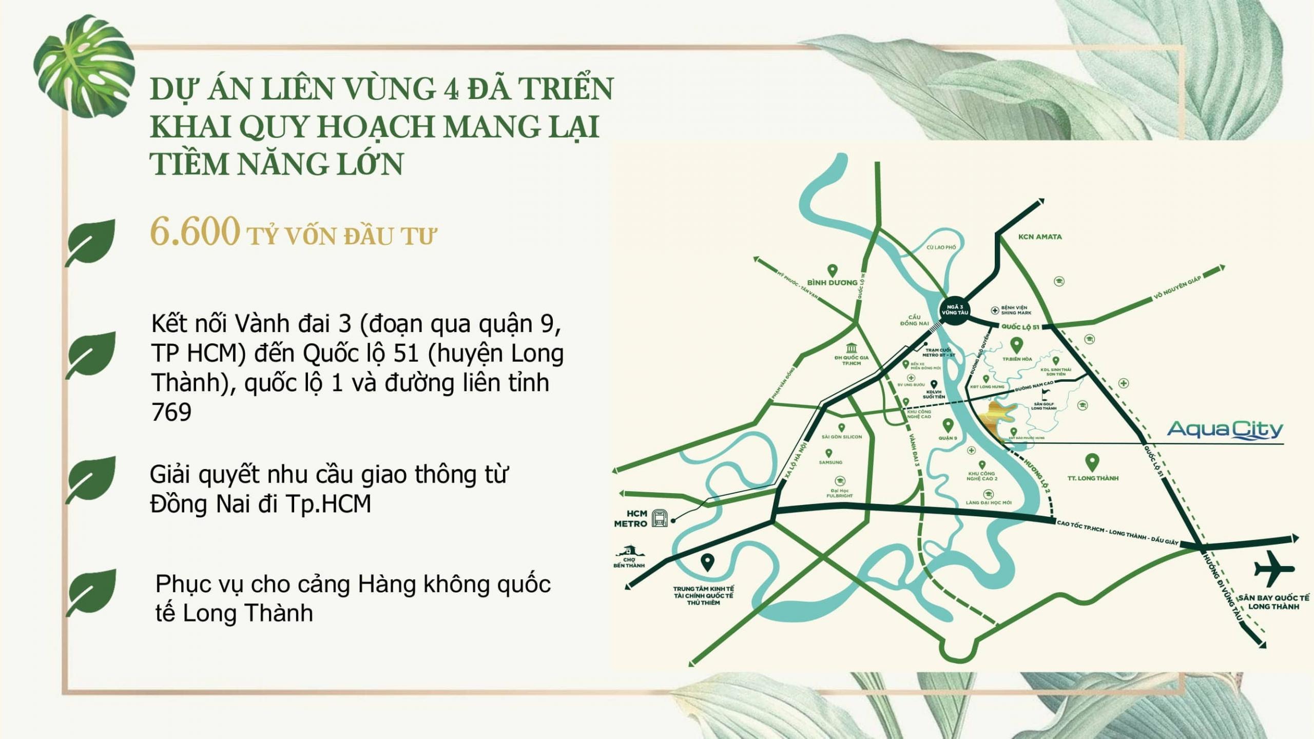 Vị trí phân khu Ever Green Aqua City Đồng Nai