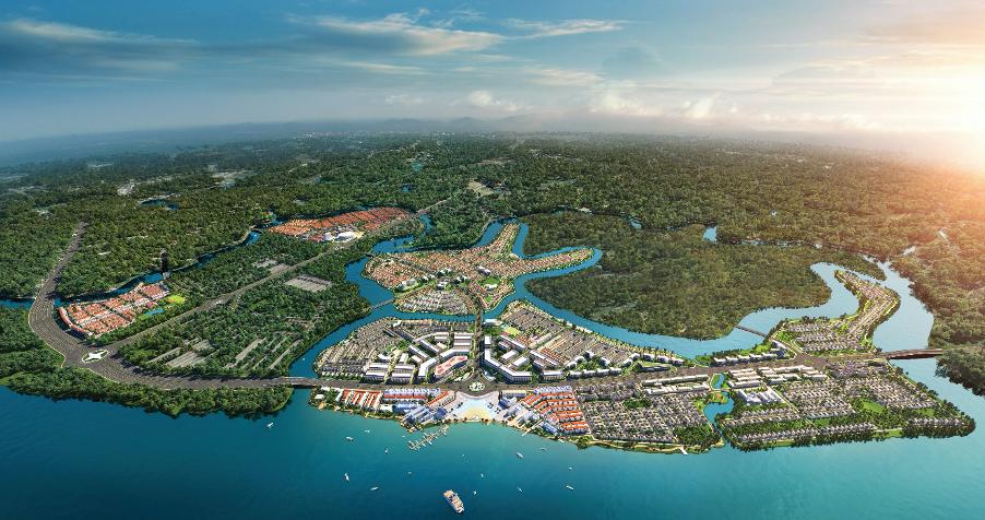 Phía Đông Tp.HCM ngày càng xuất hiện nhiều dự án đô thị sinh thái. Đơn cử như Dự án Aqua City quy mô lên tới 1000ha