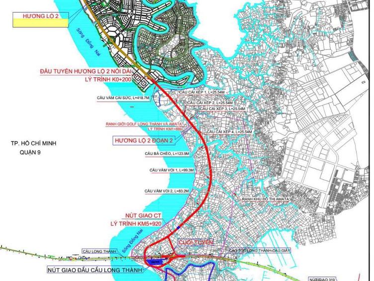 Hạ tầng kết nối thuận tiện giúp các dự án BĐS quy mô, được quy hoạch bài bản dọc tuyến đường ven sông – Hương Lộ 2 gia tăng giá trị.