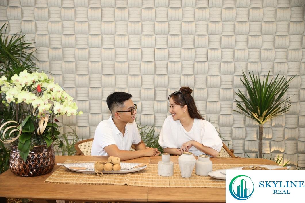 Sức hấp dẫn của nhà phố có không gian sống như biệt thự tại Aqua City đã đưa vợ chồng Khánh Thi – Phan Hiển đến với dự án.