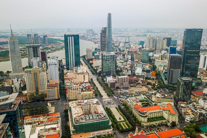 Thị trường bất động sản khu trung tâm TP HCM từ trên cao