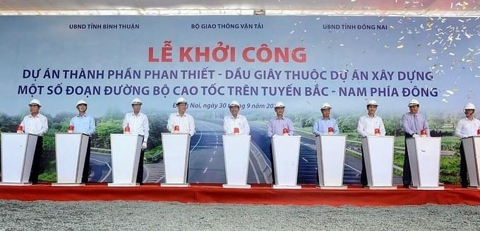 Cao tốc Dầu Giây - Phan Thiết đã chính thức khởi công ngày 30/9