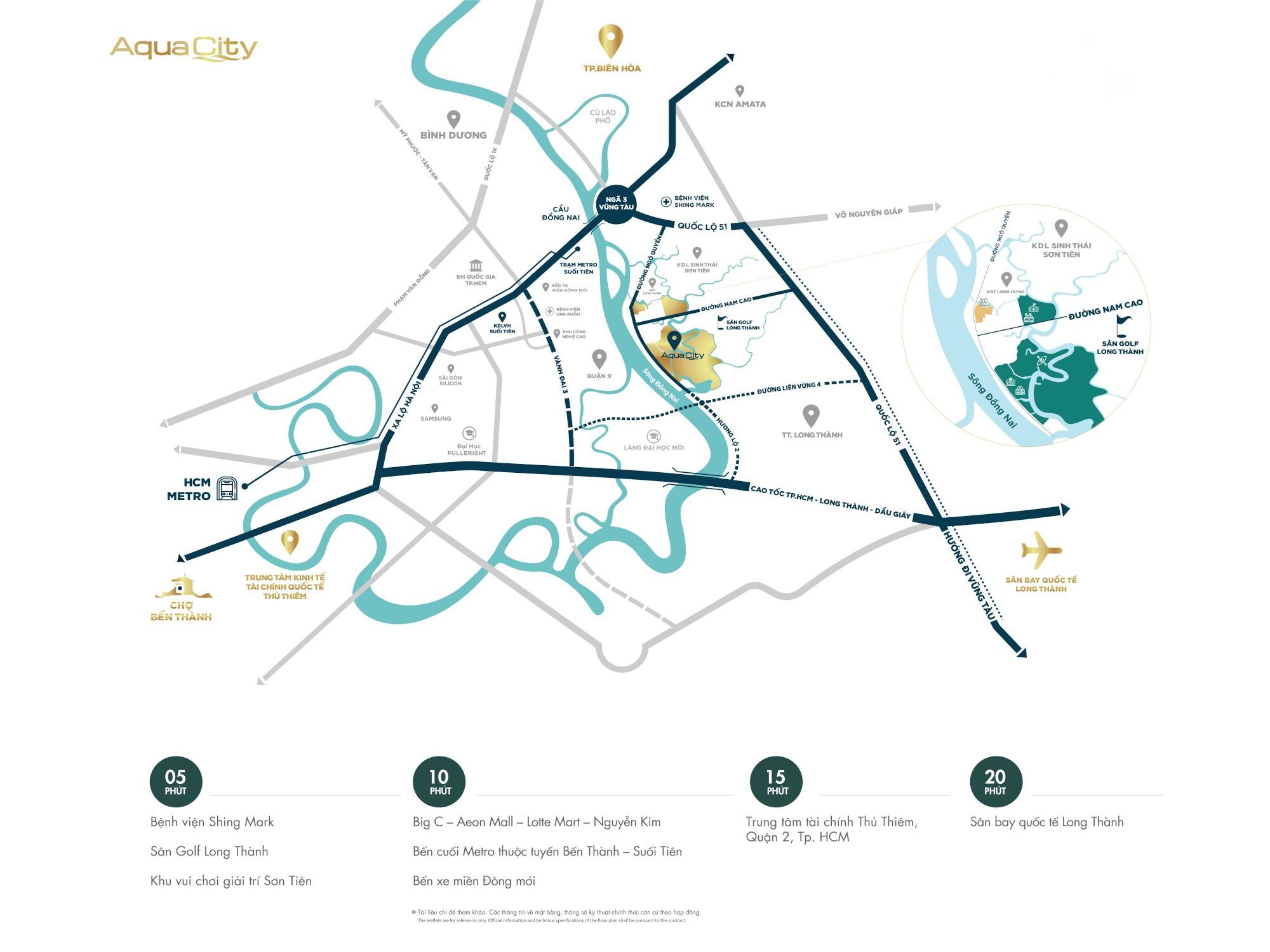Khả năng kết nối của đô thị Aqua City