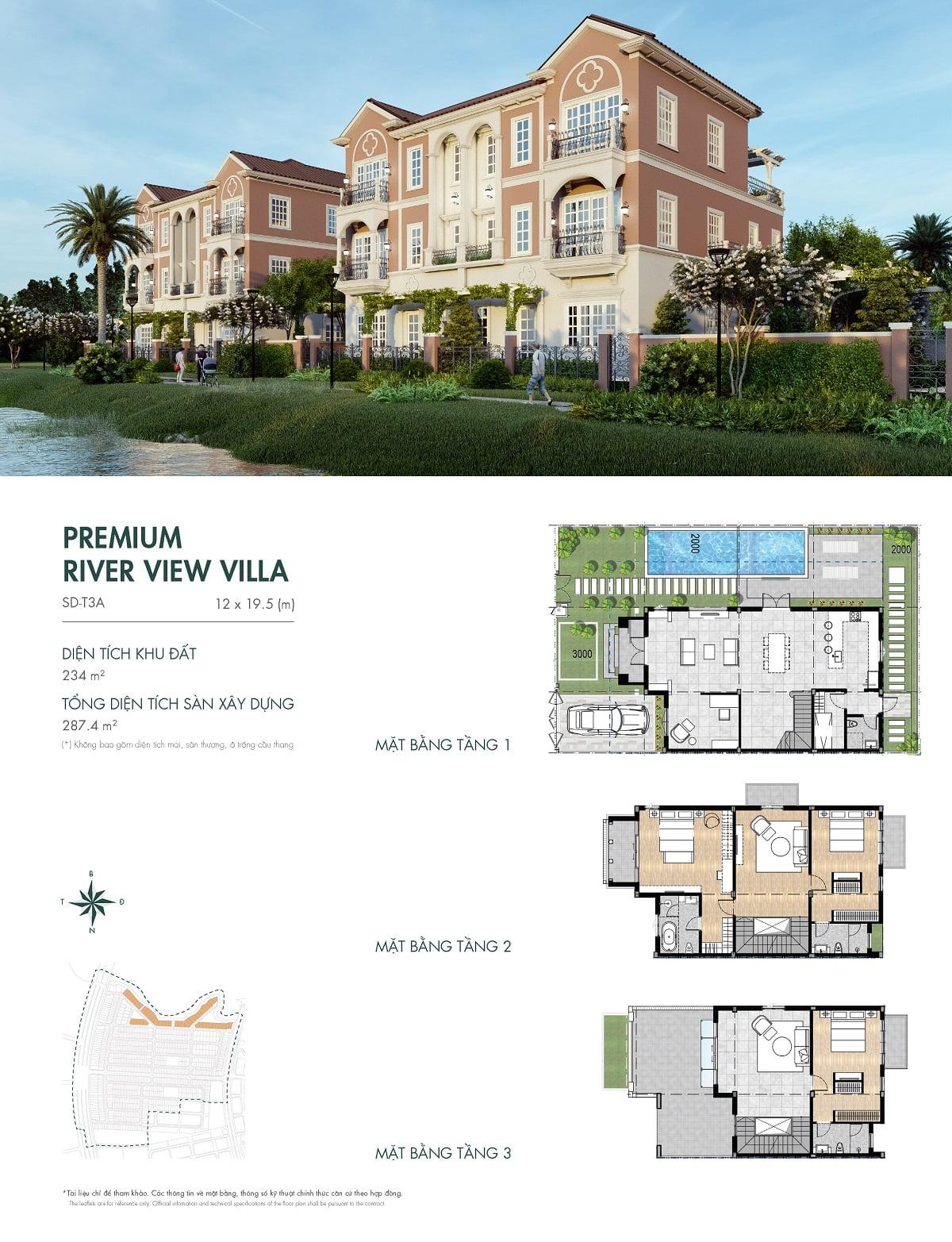 Thiết kế biệt thự River Park 1