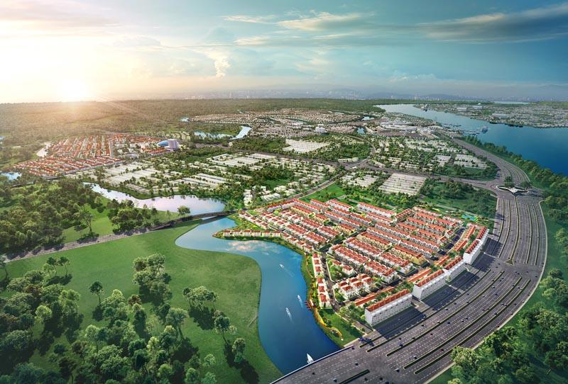 Phối cảnh tổng thể khu đô thị sinh thái Aqua City