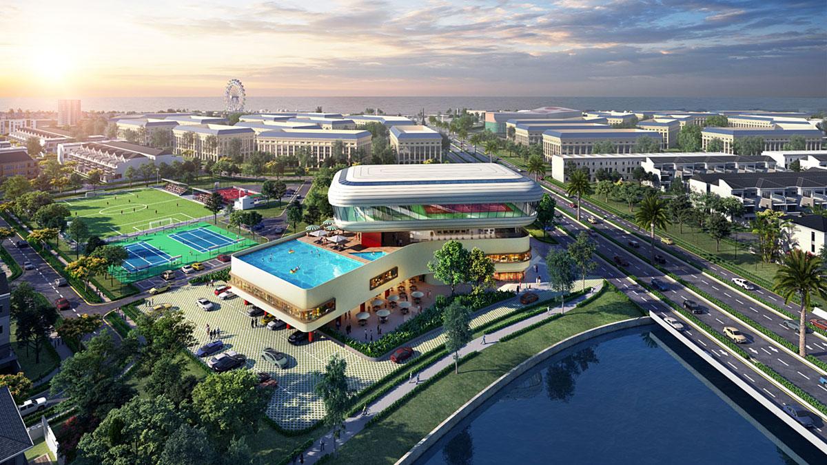 Hệ thống tiện ích nội khu Waterfront City Đồng Nai