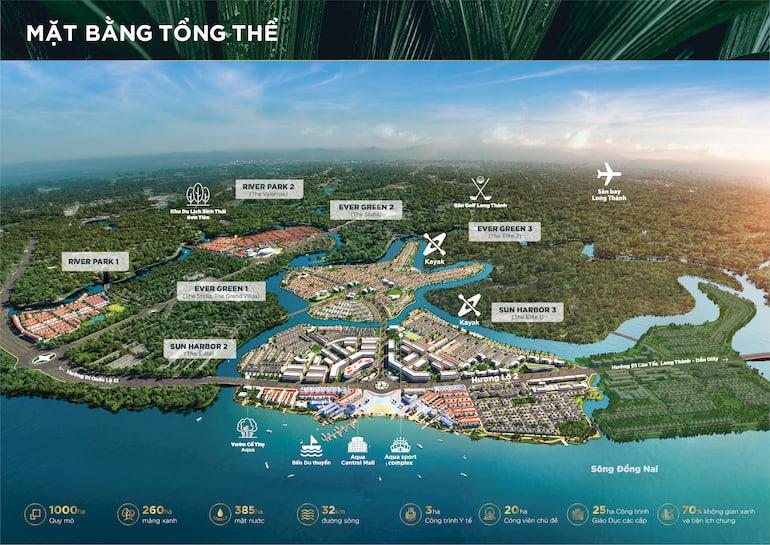 Mặt bằng tổng thể khu đô thị sinh thái Aqua City