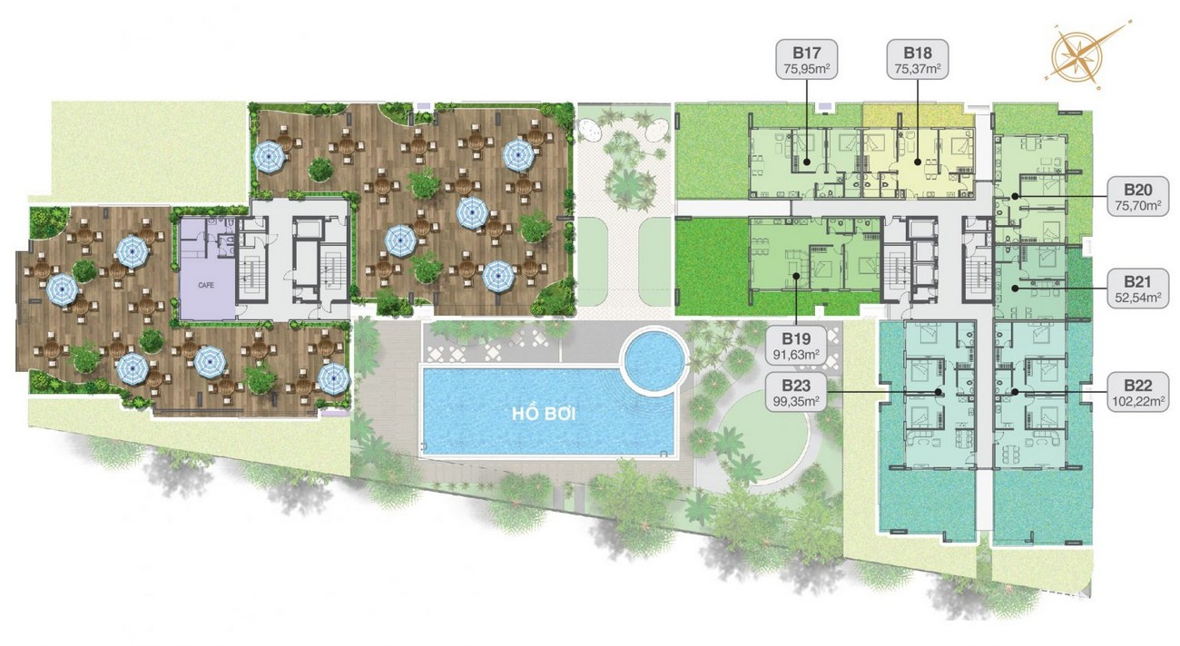 Mặt bằng dự án căn hộ chung cư King Crown Thủ Đức Đường Võ Văn Ngân chủ đầu tư Gia Khang