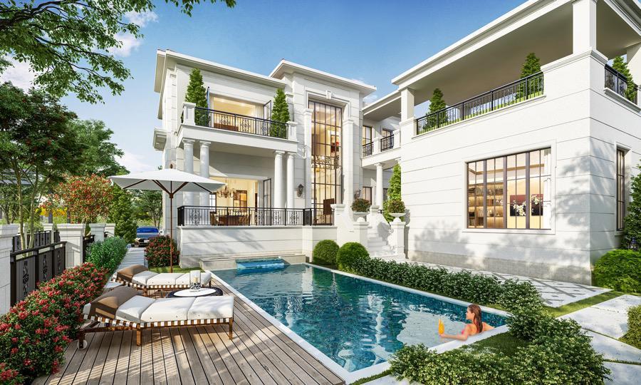 Nhà mẫu biệt thự nhà phố Swan Park Nhơn Trạch