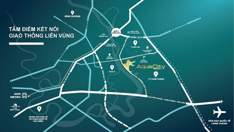 Giá trị giao thông kết nối liên vùng của Aqua City