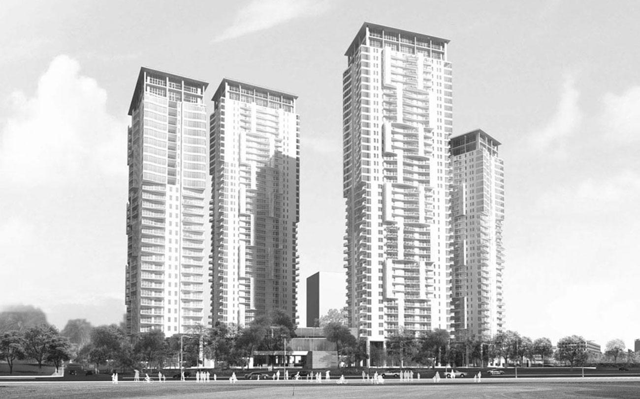 Phối cảnh tổng thể dự án căn hộ Lumière Riverside chủ đầu tư Masterise Homes