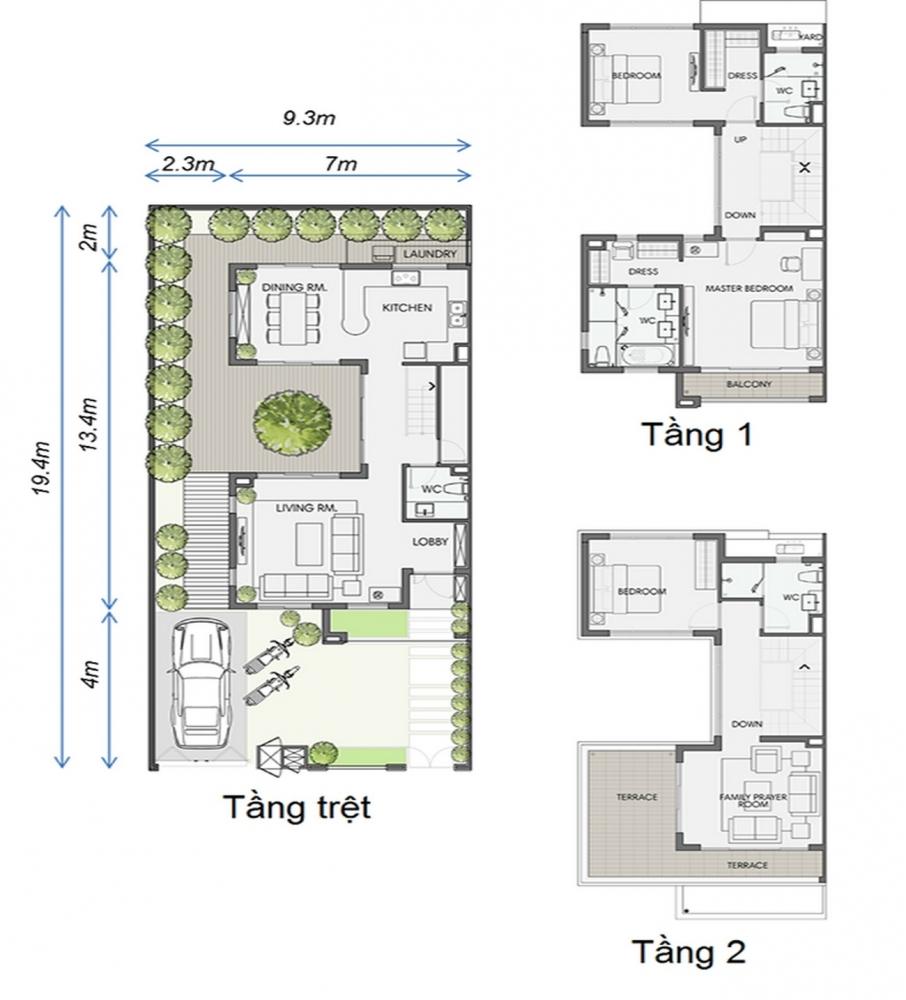 Thiết kế Biệt Thự Phú Quý Swan Park