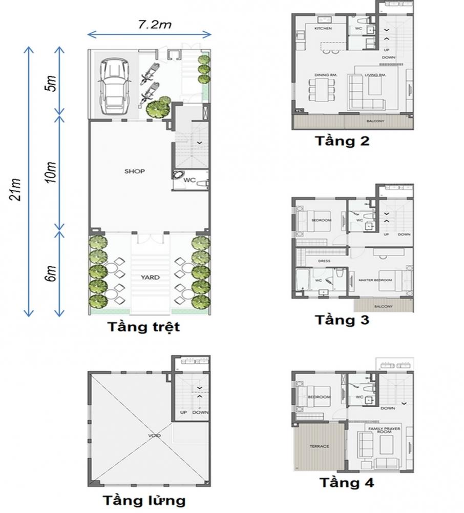Thiết kế Nhà Phố Thương Mại Swan Park