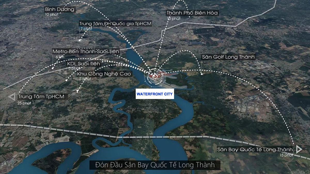 Tiện ích liên kết vùng Dự án Waterfront City Đồng Nai