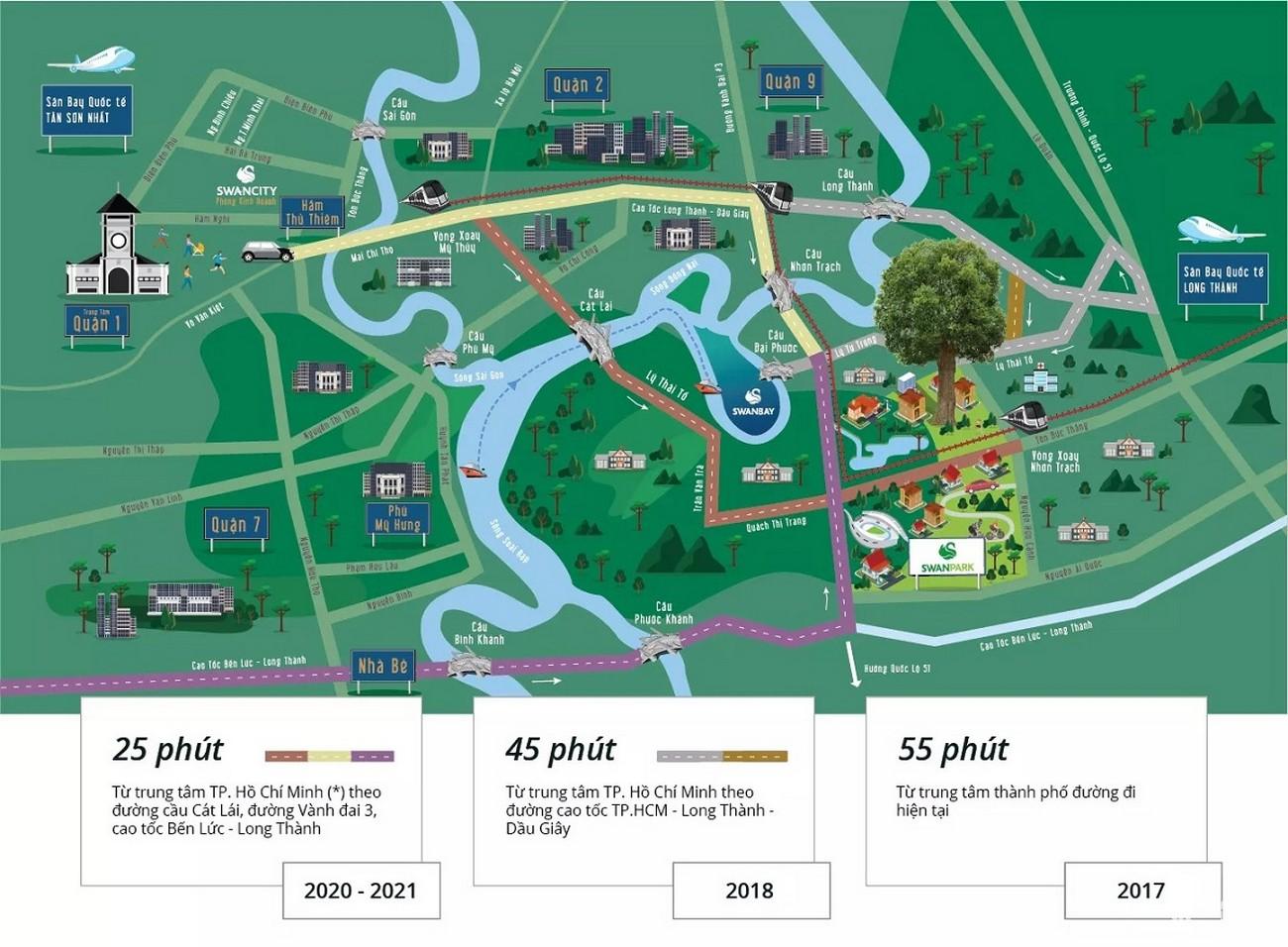 Vị trí địa chỉ dự án khu đô thị Swan Park