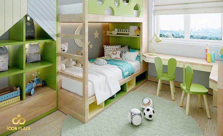 Phòng ngủ nhỏ Icon Plaza Bình Dương chủ đầu tư Phú Hồng Thịnh