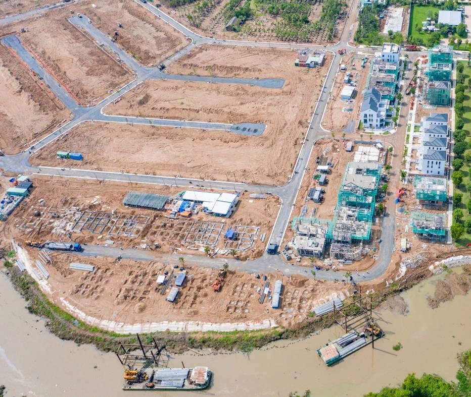 khu biệt thự từ trên cao nhìn xuống dự án Aqua City