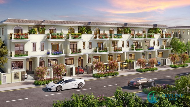 Dòng sản phẩm nhà phố diện tích lớn của Aqua City được thiết kế tối ưu không gian xanh cho gia chủ