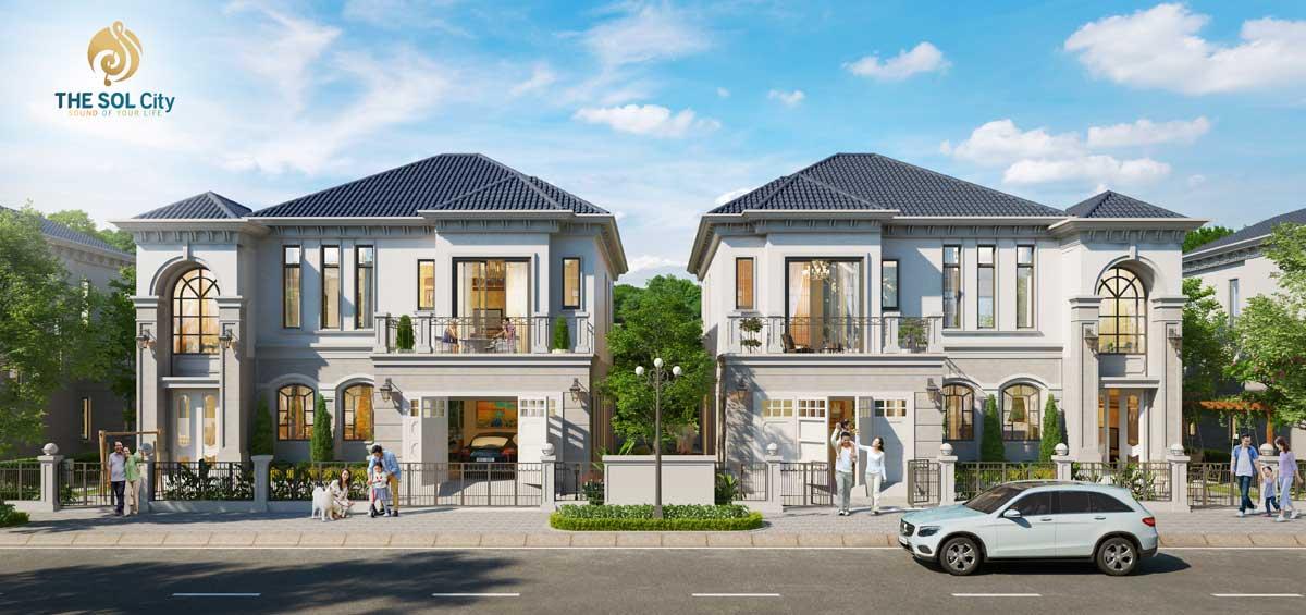 Phối cảnh biệt thự The Sol City Nam Sài Gòn Chủ đầu tư Thắng Lợi