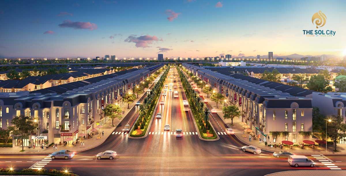 Đại lộ Thắng Lợi 60m tại The Sol City