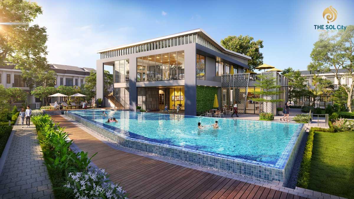 Hồ bơi Dự án The Sol City Long An chủ đầu tư Thắng Lợi