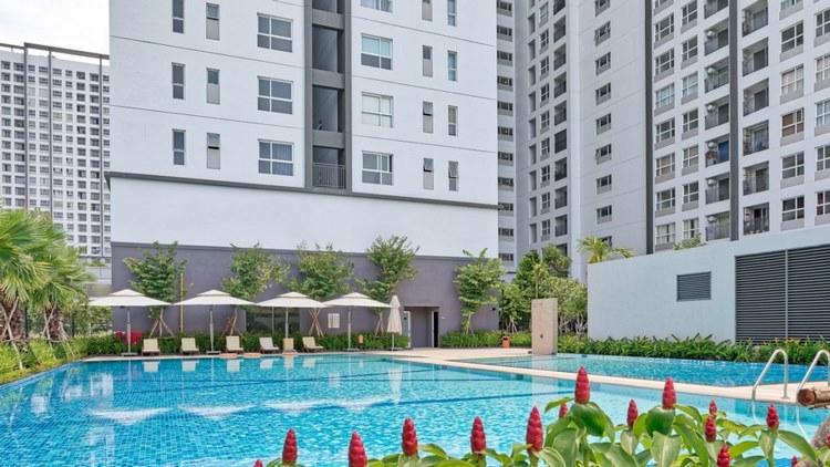 Nội khu chung cư Sunrise Riverside tại Phước Kiển, Nhà Bè.