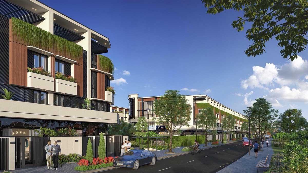 Nhà phố liên kế The Sol City Nam Sài Gòn chủ đầu tư Thắng Lợi – phong cách Neo Vlassic (Tân cổ điển)