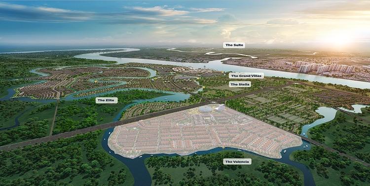 Vị trí và phối cảnh của The Valencia Aqua City