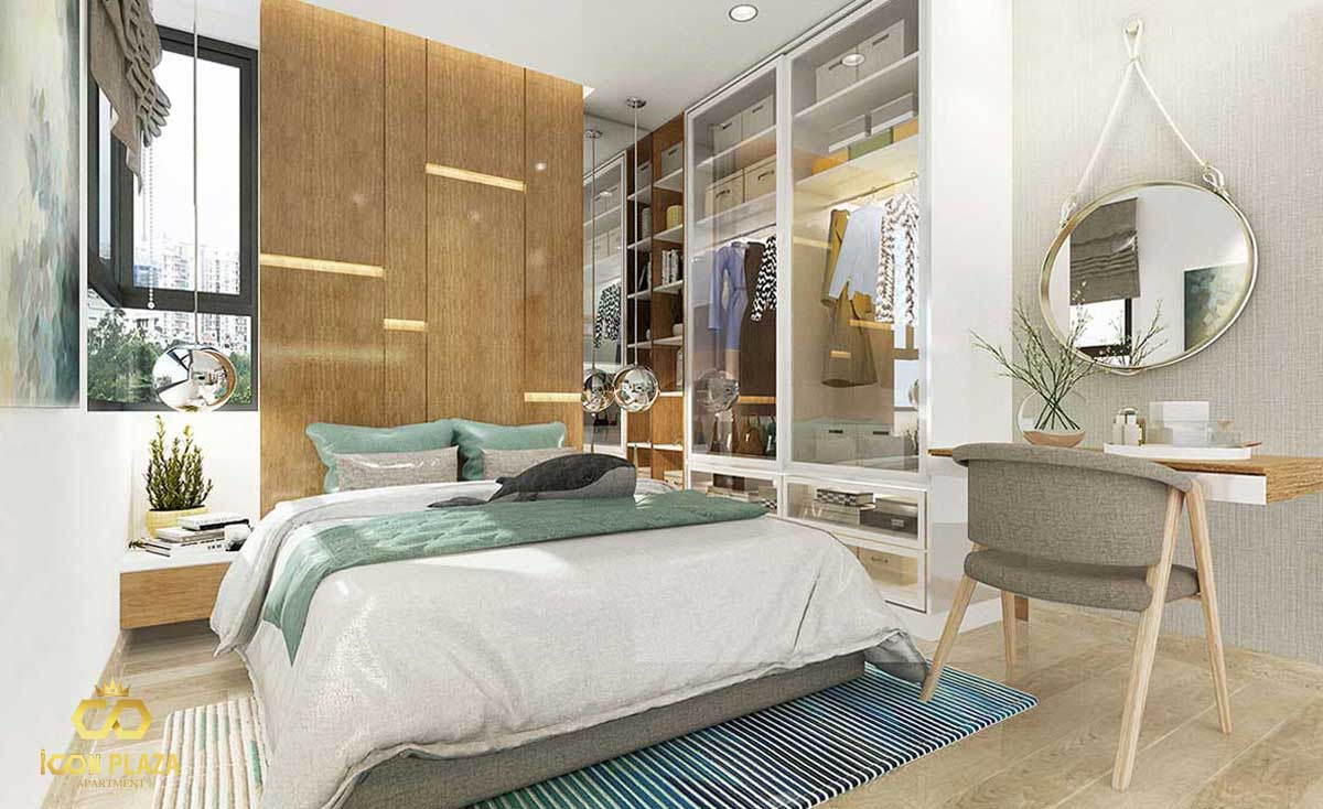 Phòng ngủ Master Icon Plaza Bình Dương chủ đầu tư Phú Hồng Thịnh