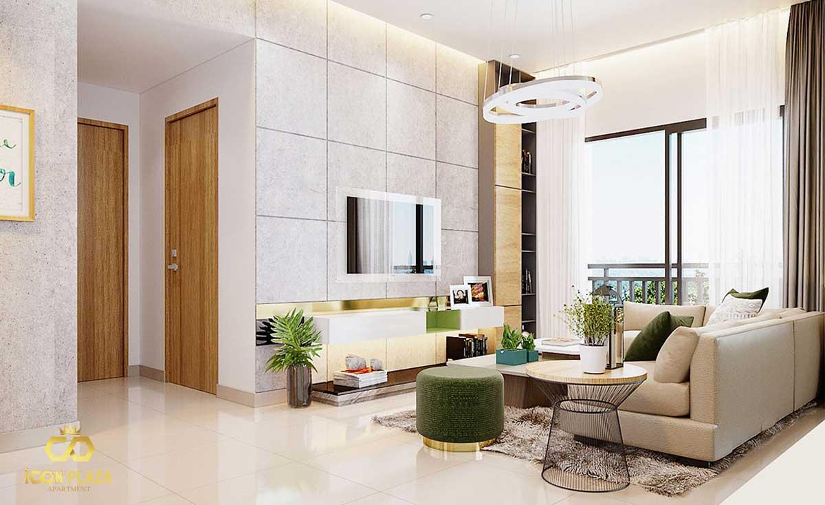 Phòng khách Icon Plaza Bình Dương chủ đầu tư Phú Hồng Thịnh
