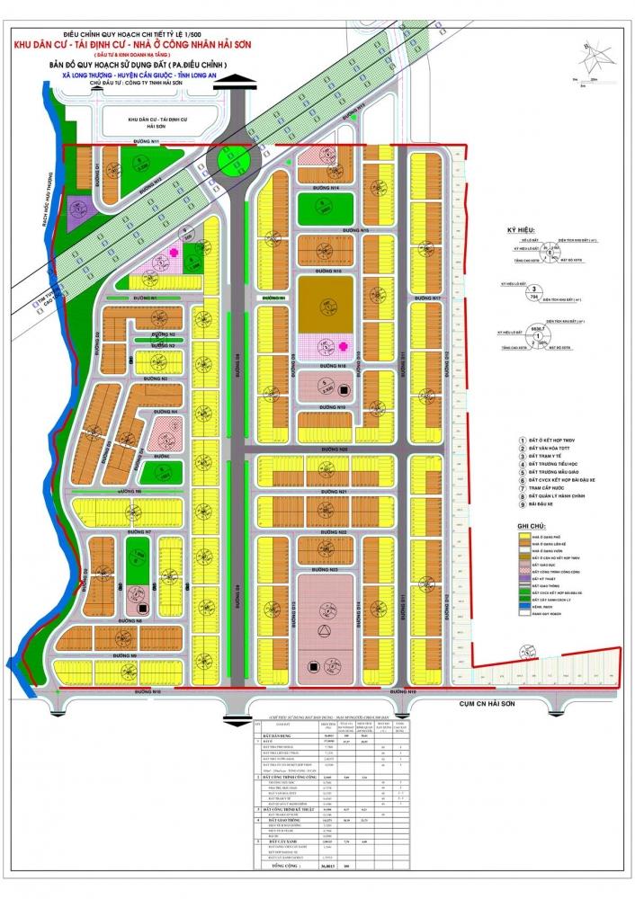 Quy hoạch 1/500 Dự án Khu dân cư – Tái định cư – Nhà ở công nhân Hải Sơn – The Sol City