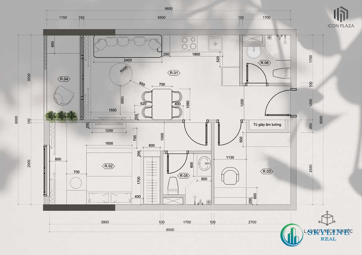 Thiết kế chi tiết dự án Icon Plaza Bình Dương