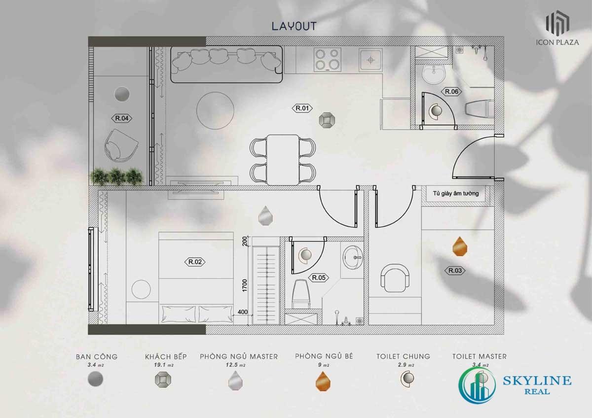 Thiết kế chi tiết dự án Icon Plaza Bình Dương chủ đầu tư Phú Hồng Thịnh