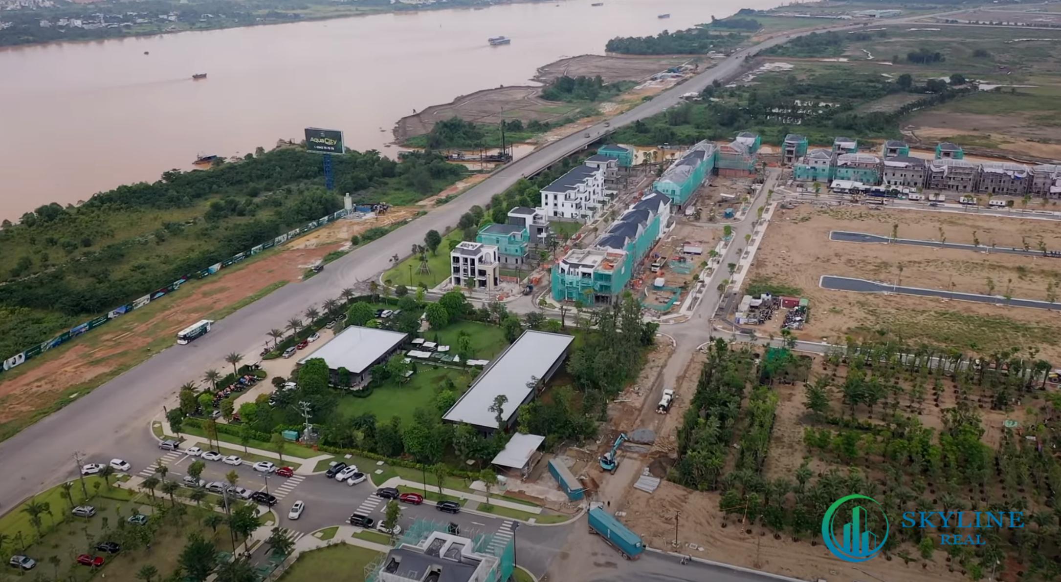 Tiến độ Aqua City chủ đầu tư Novaland - Cụm biệt thự mẫu