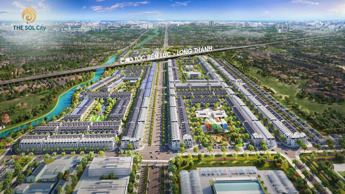 The Sol City nằm ngay Tuyến cao tốc Bến Lức Long Thành