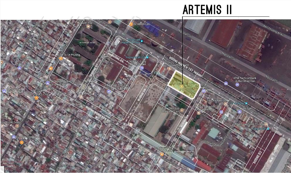 Vị trí dự án The Artemis II Nguyễn Tất Thành Quận 4