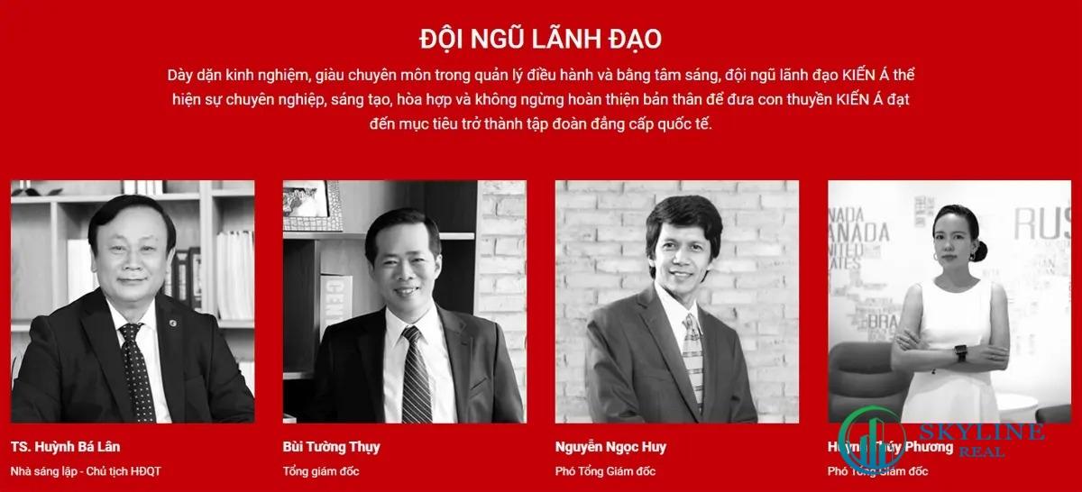 Đội ngũ lãnh đạo của chủ đầu tư Kiến Á Group