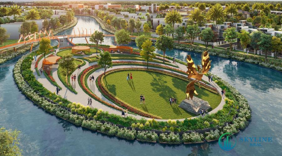 Không gian xanh đảo Phượng Hoàng Aqua City