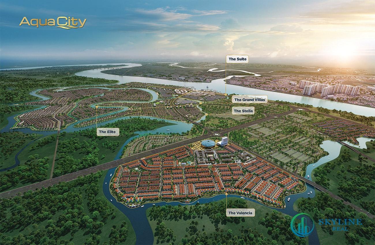 Phối cảnh tổng thể dự án khu đô thị sinh thái Aqua City chủ đầu tư Novaland