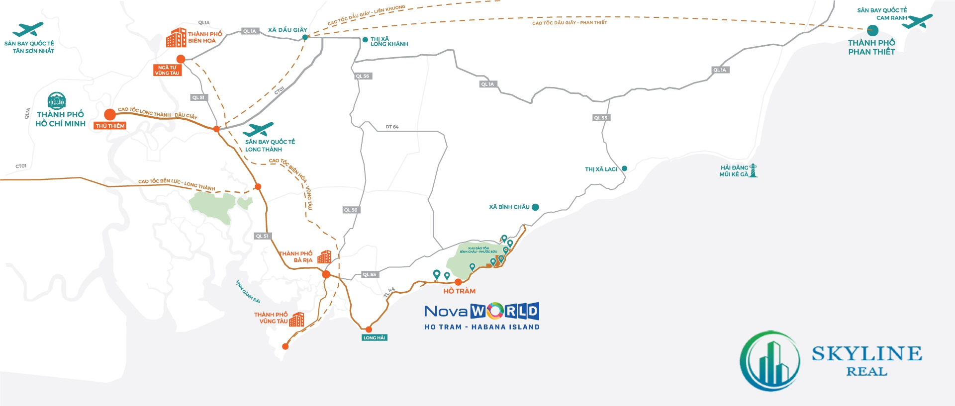 Vị trí chính xác của Habana Hồ Tràm Novaland
