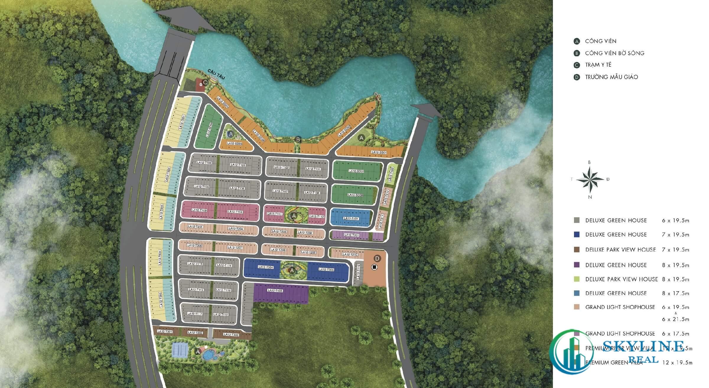 Mặt bằng chi tiết phân khu River Park 1 Aqua City Đồng Nai chủ đầu tư Novaland