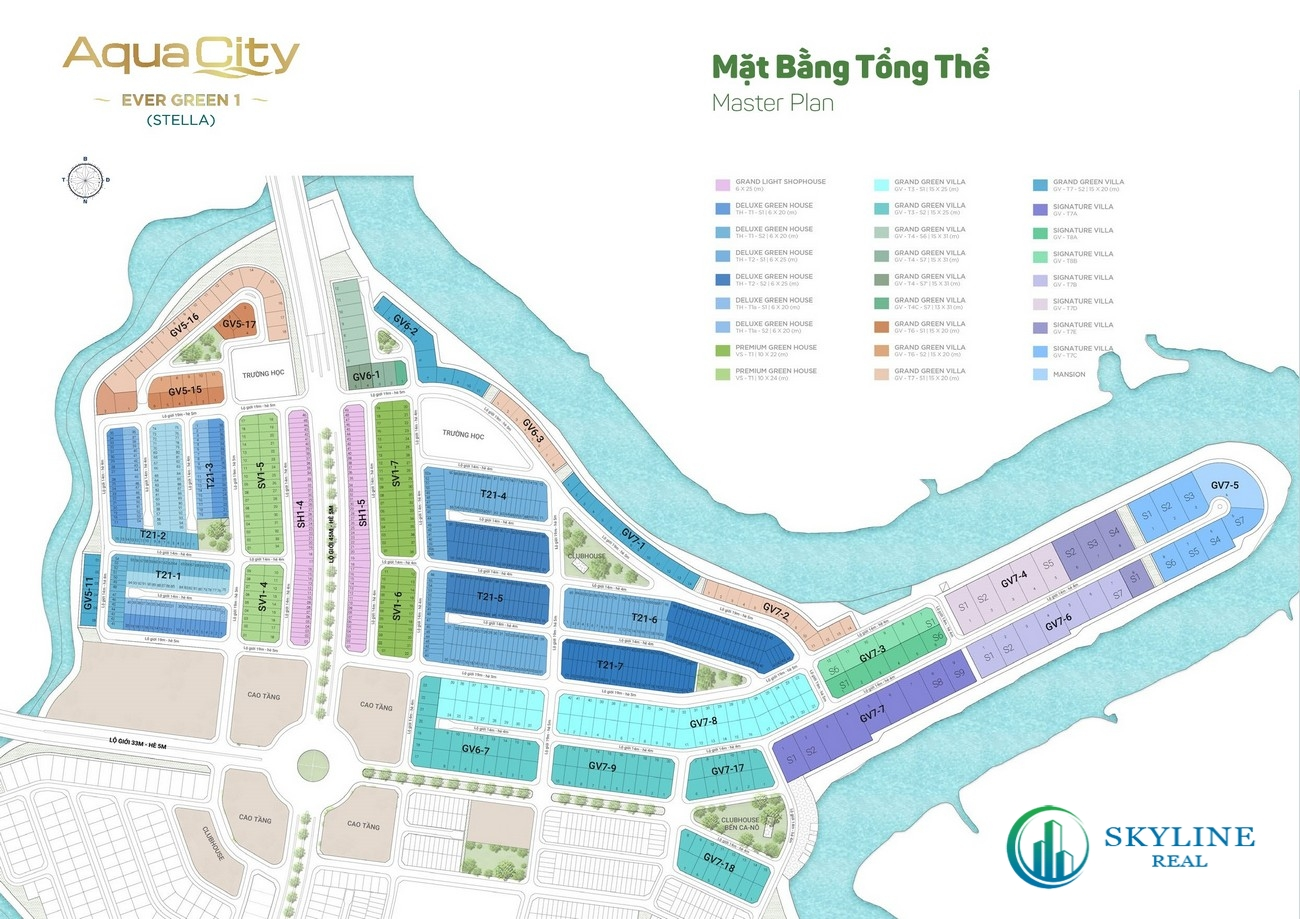 Mặt bằng Aqua City The Stella Biên Hoà chủ đầu tư Novaland