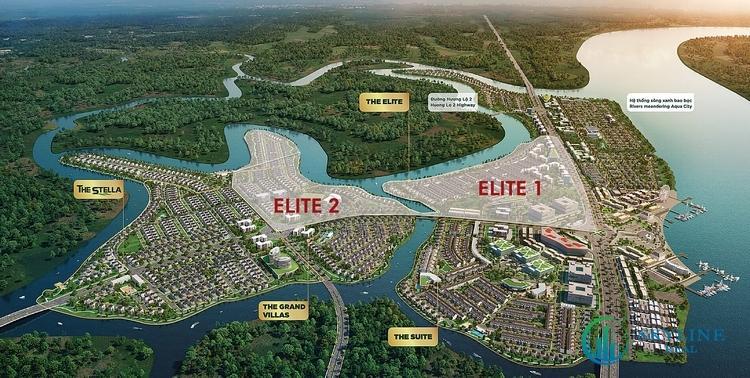 Phối cảnh tổng thể phân khu The Elite Aqua City