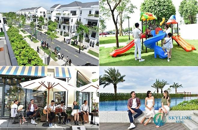 Một phần không gian của đô thị sinh thái thông minh Aqua City