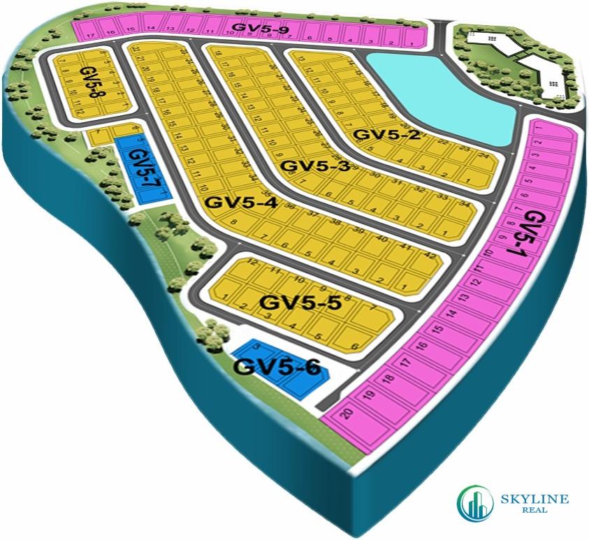 Mặt bằng chi tiết phân khu The Grand Villas Aqua City Đồng Nai