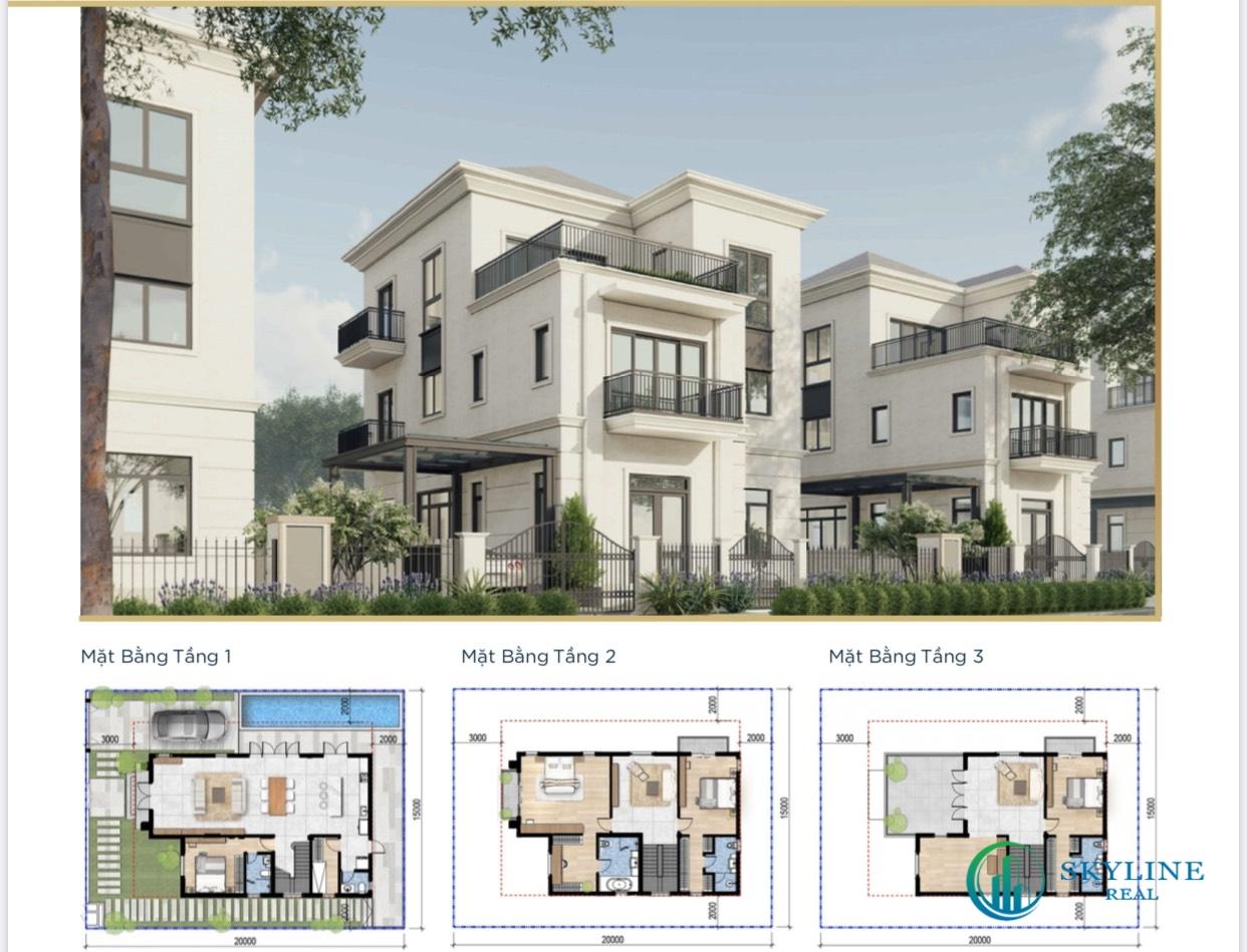 Thiết kế chi tiết biệt thự The Grand Villas Aqua City tập đoàn Novaland